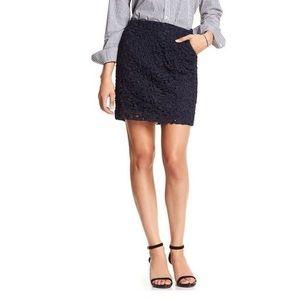 Banana Republic Lace Mini Skirt Navy w/ Pockets